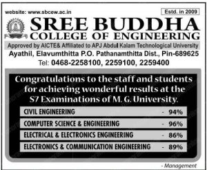 Academic Results - Sree Buddha College of Engineering